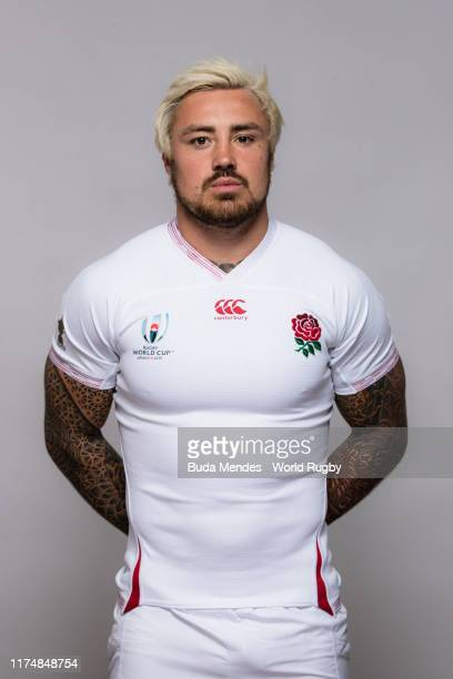 Jack Nowell of England poses for a portrait during the England Rugby World Cup 2019 squad photo call on September 15, 2019 in Miyazaki, Japan.