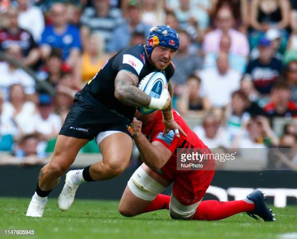 Jack Nowell of Exeter Chiefs during Gallagher Premiership Rugby Final between Exeter Chiefs and Saracens at Twickenham Stadium London on 01 June 2019