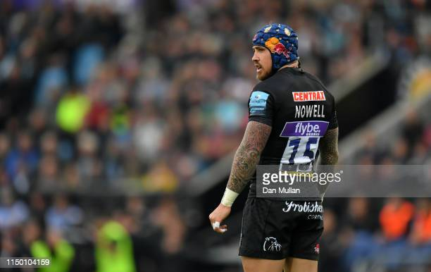 Jack Nowell of Exeter Chiefs looks on during the Gallagher Premiership Rugby match between Exeter Chiefs and Northampton Saints at Sandy Park on May...
