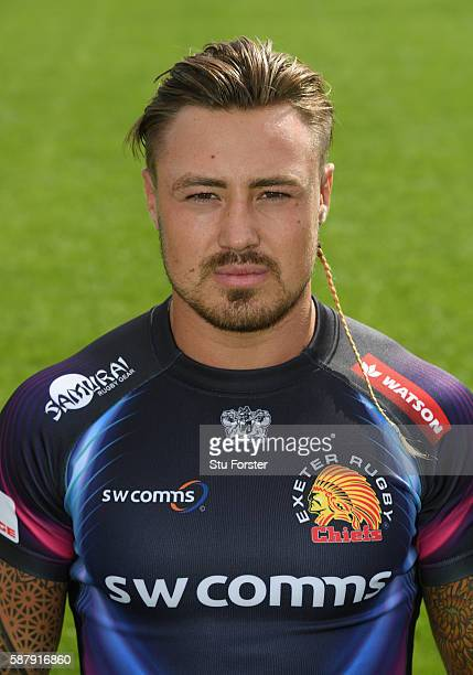 Jack Nowell of Exeter Chiefs poses for a portrait during the Exeter Chiefs Squad photo call for the 2016-2017 Aviva Premiership Rugby season on...