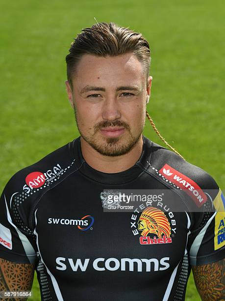 Jack Nowell of Exeter Chiefs poses for a portrait during the Exeter Chiefs Squad photo call for the 20162017 Aviva Premiership Rugby season on August...