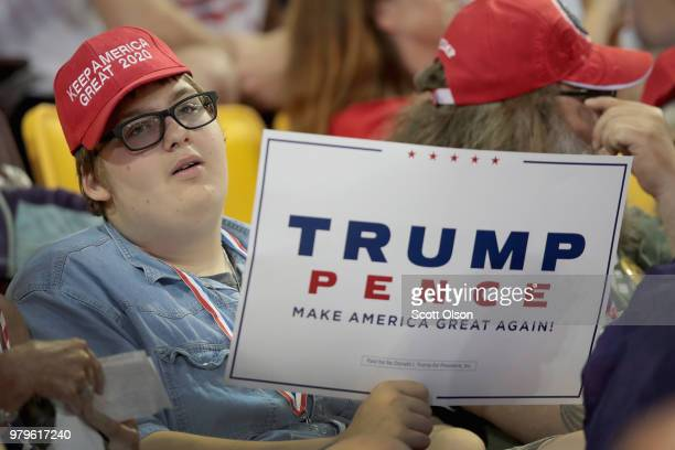 Jack Nylund arrives for a campaign rally with President Donald Trump at the Amsoil Arena on June 20 2018 in Duluth Minnesota Earlier today President...