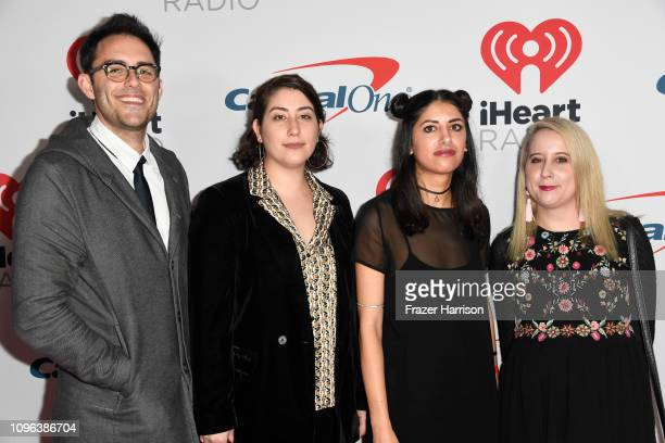 Jack O'Brien Anna Hossnieh Shereen Younes and Sophie Lichterman attend the iHeartRadio Podcast Awards Presented By Capital One at iHeartRadio Theater...