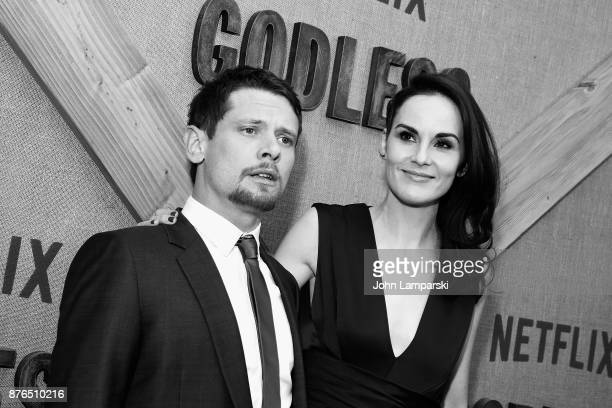 Jack O'Connell and Michelle Dockery attends 'Godless' New York premiere at The Metrograph on November 19 2017 in New York City