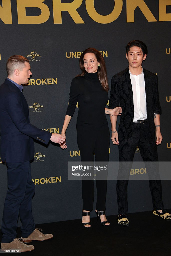 Jack O Connell Angelina Jolie And Miyavi Attend The Photocall For