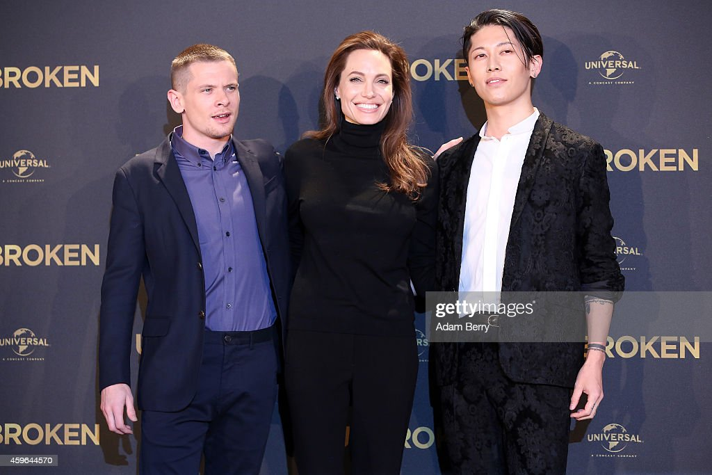 Jack O Connell Angelina Jolie And Miyavi Pose At A Photocall For