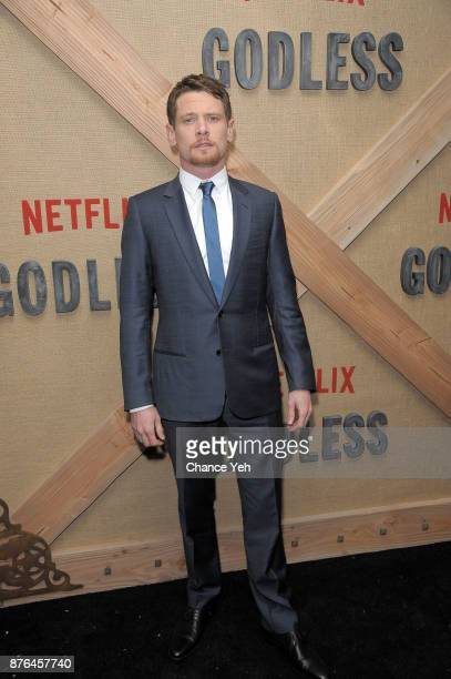 Jack O'Connell attends 'Godless' New York premiere at The Metrograph on November 19 2017 in New York City