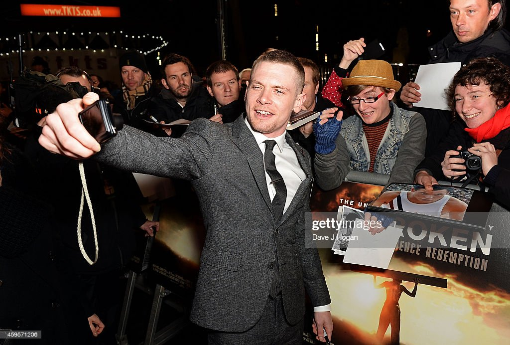 Jack O'Connell attends the UK Premiere of 'Unbroken' at Odeon Leicester Square on November 25, 2014 in London, England.