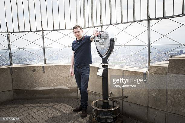 Jack O'Connell in celebration of the new movie 'Money Monster' visits The Empire State Building on May 9 2016 in New York City