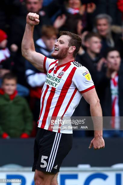 Jack O'Connell of Sheffield United celebrates after scoring a goal to make it 2-0 during the Sky Bet Championship match between Sheffield United and...