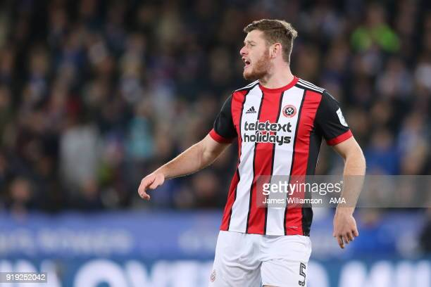 Jack OConnell of Sheffield United during the Emirates FA Cup Fifth Round match between Leicester City and Sheffield United at The King Power Stadium...