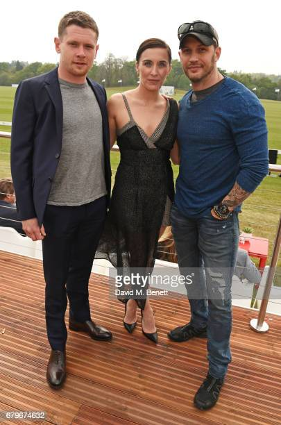 Jack O'Connell Vicky McClure and Tom Hardy attend the Audi Polo Challenge at Coworth Park on May 6 2017 in Ascot United Kingdom