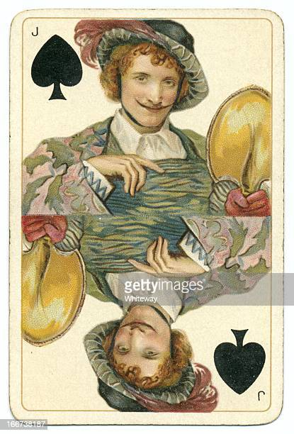 Jota de picas original de Shakespeare vintage tarjeta Dondorf jugando