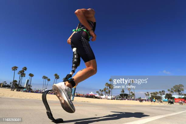Jack O'Neil competes during the Legacy Triathlon-USA Paratriathlon National Championships on July 20, 2019 in Long Beach, California.