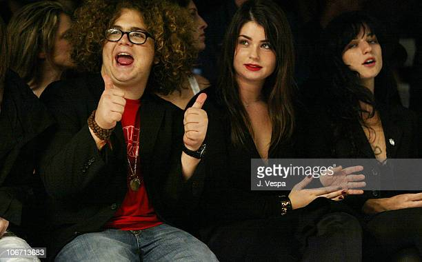 Jack Osbourne and Aimee Osbourne during Mercedes-Benz Shows LA Fashion Week Spring 2004 - Jenni Kayne Backstage and Front Row at The Standard...