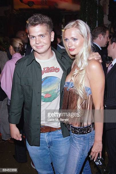 Jack Osbourne and Anoushka De Georgiou attend the after party for the UK Premiere of 'The Dukes Of Hazzard' at the Texas Embassy Cantina on August 22...
