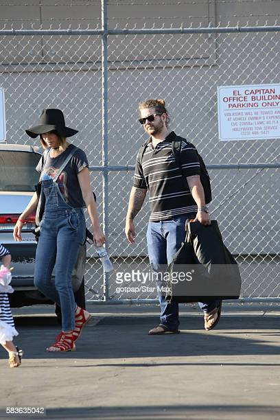 Jack Osbourne and his wife Lisa Stelly are seen on July 26 2016 in Los Angeles California