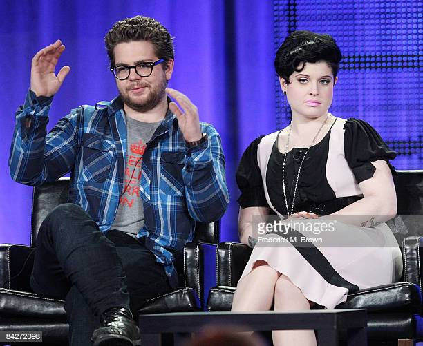 Jack Osbourne and Kelly Osbourne of the television show 'Osbourne Reloaded' speak during the Fox Network portion of the 2009 Winter Television...