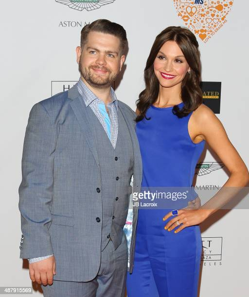 Jack Osbourne and Lisa Stelly attend the 21st Annual Race To Erase MS Gala held at the Hyatt Regency Century Plaza on May 2 2014 in Century City...