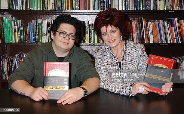 """Jack Osbourne and Sharon Osbourne during Sharon Osbourne & Jack Osbourne Sign Copies of their Book """"Our Story: Ozzy and Sharon Osbourne with Aimee,..."""
