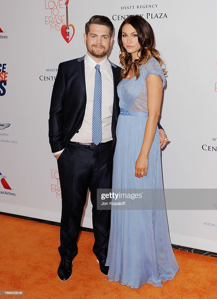 Jack Osbourne and wife Lisa Stelly arrive at the 20th Annual Race To Erase MS 'Love To Erase MS' Gala at the Hyatt Regency Century Plaza on May 3, 2013 in Century City, California.