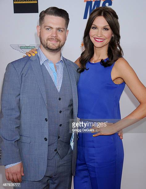 Jack Osbourne and wife Lisa Stelly arrive at the 21st Annual Race To Erase MS Gala at the Hyatt Regency Century Plaza on May 2 2014 in Century City...