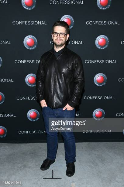 Jack Osbourne attends Scott Nathan Exhibition Confessional VIP Opening at Red Studios on February 15 2019 in Los Angeles California