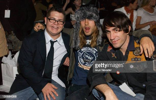 Jack Osbourne Jared Leto and Brent Bolthouse during MercedesBenz Fall 2004 Fashion Week at Smashbox Studios Jenni Kayne Front Row and Backstage at...