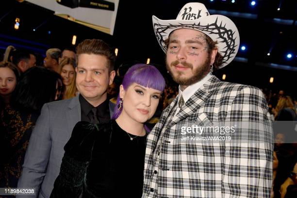 Jack Osbourne Kelly Osbourne and Post Malone attend the 2019 American Music Awards at Microsoft Theater on November 24 2019 in Los Angeles California