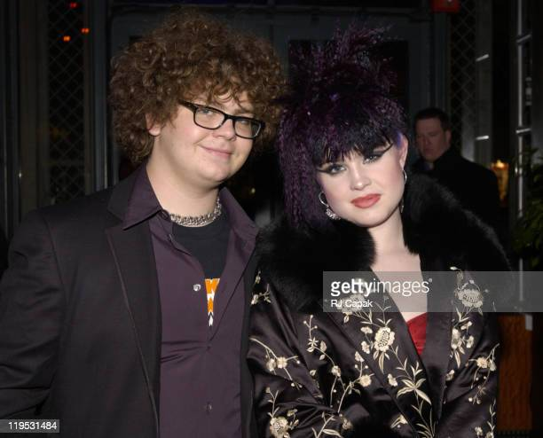 Jack Osbourne Kelly Osbourne during Private GRAMMY Party at Bryant Park Grill in New York City New York United States