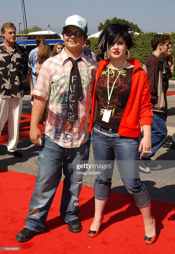 Jack Osbourne & Kelly Osbourne during The 2002 Teen Choice Awards - Arrivals at The Universal Amphitheatre in Universal City, California, United States.