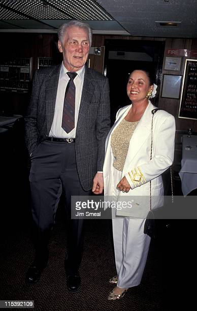 Jack Palance and wife Ellen during Friars Club Honors Jack Palance at a XRated Roast at Friars Club in Beverly Hills California United States