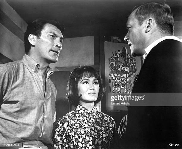 Jack Palance Judy Dan and Aldo Ray in a scene from the film 'Kill A Dragon' 1967