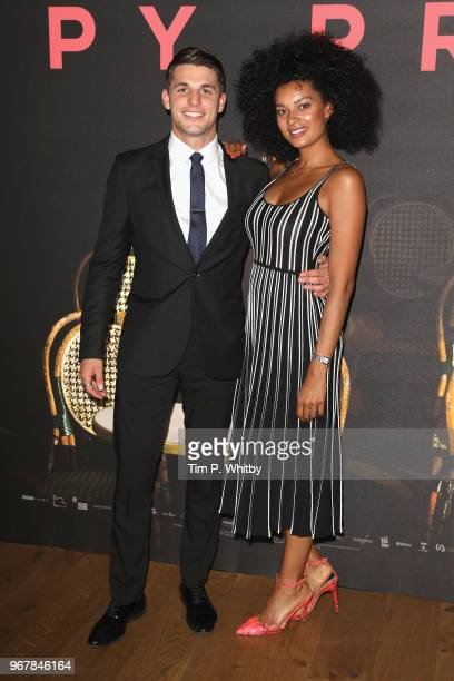 Jack Parr and KellyJade Williams attend the UK premiere of 'The Happy Prince' at Vue West End on June 5 2018 in London England