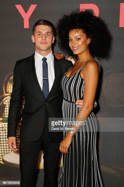 Jack Parr and KellyJade Williams attend the UK Premiere of 'The Happy Prince' at the Vue West End on June 5 2018 in London England