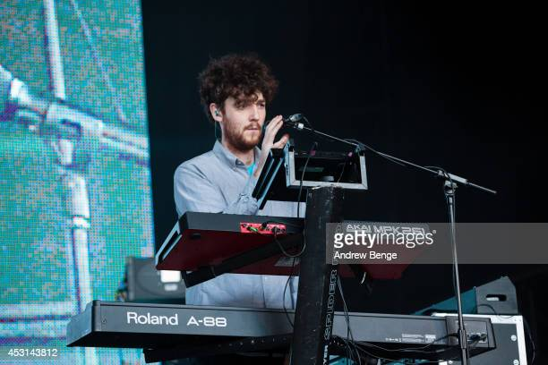 Jack Patterson of Clean Bandit performs on stage at Kendal Calling Festival at Lowther Deer Park on August 3 2014 in Kendal United Kingdom
