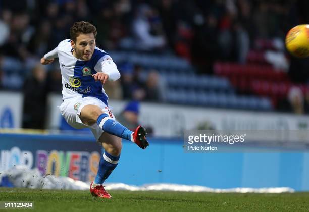 Jack Payne of Blackburn Rovers in action during the Sky Bet League One match between Blackburn Rovers and Northampton Town at Ewood Park on January...