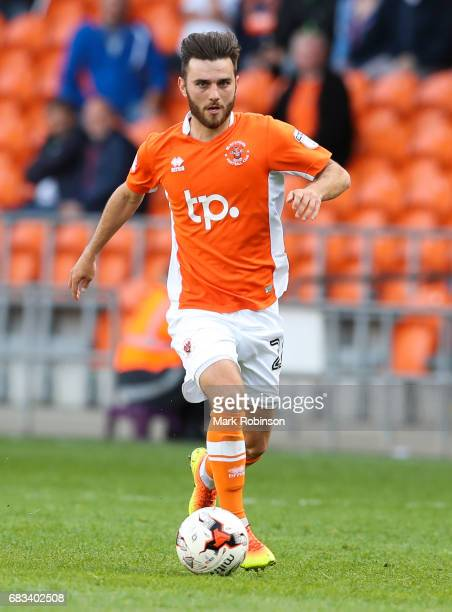 Jack Payne of Blackpool during the Sky Bet League Two match between Blackpool and Luton Town at Bloomfield Road on May 14 2017 in Blackpool England