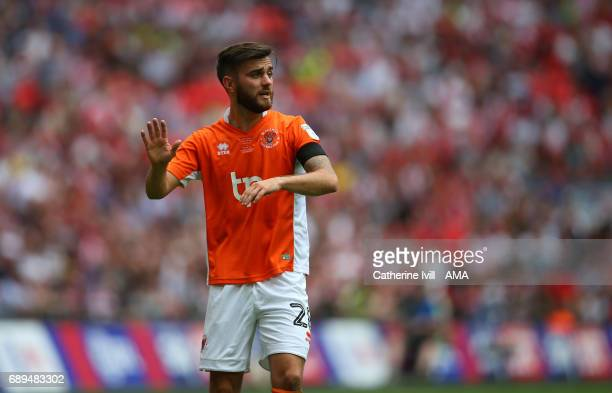 Jack Payne of Blackpool during the Sky Bet League Two Playoff Final match between Blackpool and Exeter City at Wembley Stadium on May 28 2017 in...