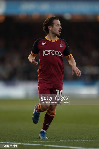 Jack Payne of Bradford City during the Sky Bet League One match between Peterborough United and Bradford City at ABAX Stadium on November 17 2018 in...