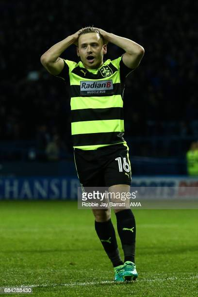 Jack Payne of Huddersfield Town reacts after he misses a penalty during the Sky Bet Championship match between Sheffield Wednesday and Huddersfield...
