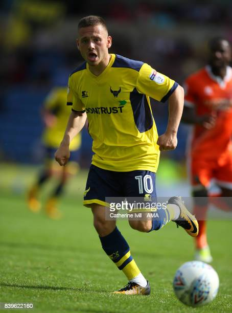 Jack Payne of Oxford United during the Sky Bet League One match between Oxford United and Shrewsbury Town at Kassam Stadium on August 26 2017 in...