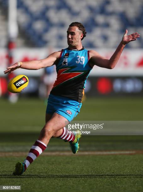 Jack PAYNE of the Allies during the U18 AFL Championships match between Vic Metro and the Allies at Simonds Stadium on July 5 2017 in Geelong...