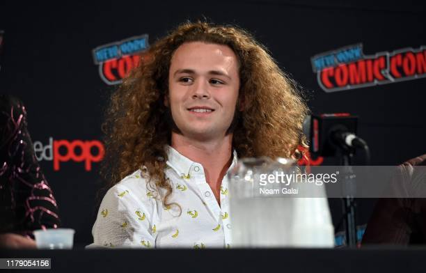 Jack Perry aka Jungle Boy attends the All Elite Wrestling panel during 2019 New York Comic Con at Jacob Javits Center on October 04 2019 in New York...