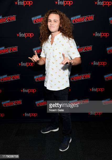 Jack Perry aka Jungle Boy attends the All Elite Wrestling press line during 2019 New York Comic Con at Jacob Javits Center on October 04 2019 in New...