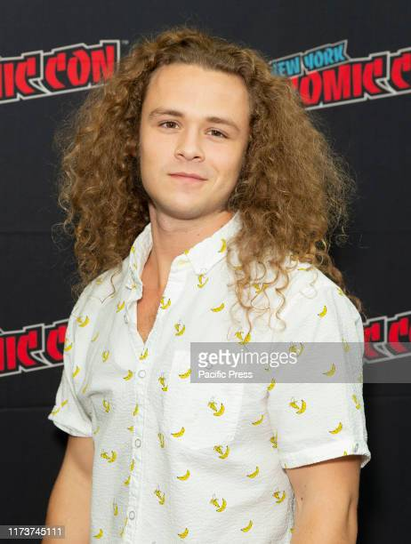 Jack Perry aka Jungle Boy of TNT series All Elite Wrestling Dynamite attends press briefing New York Comic Con at Jacob Javits Center