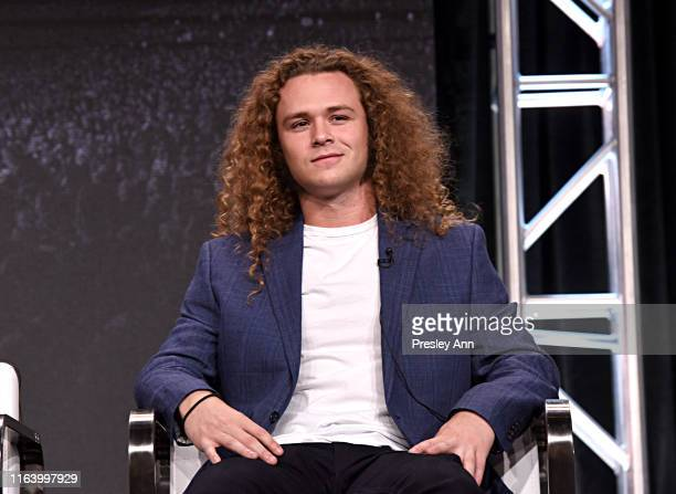 Jack Perry aka Jungle Boy speaks onstage at the All Elite Wrestling panel during the TBS TNT Summer TCA 2019 at The Beverly Hilton Hotel on July 24...