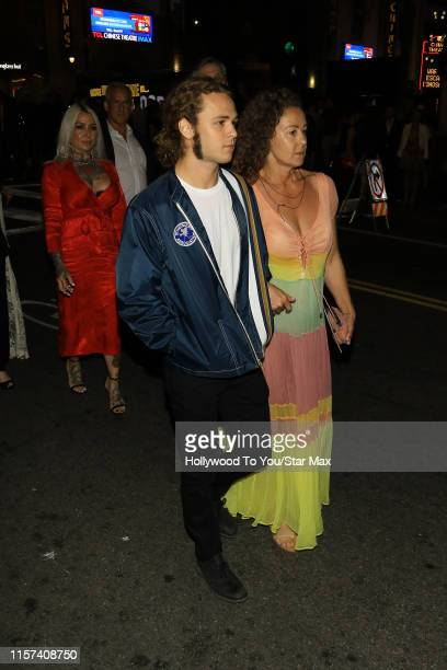 Jack Perry and Rachel Sharp are seen on July 22 2019 at Los Angeles