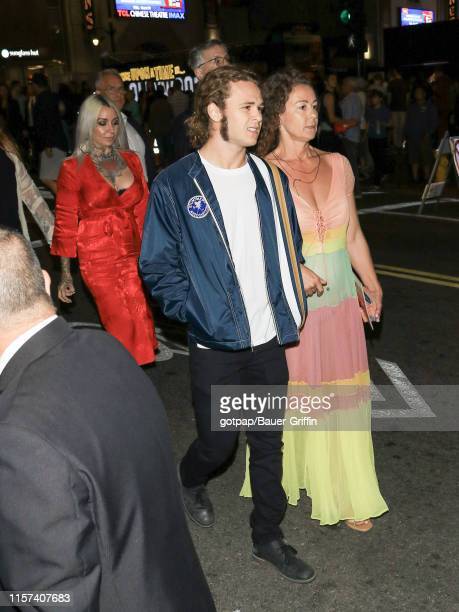 Jack Perry and Rachel Sharp are seen on July 22 2019 in Los Angeles California