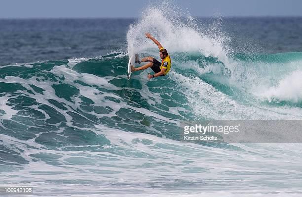 Jack Perry of Australia surfs during the Reef Hawaiian Proon November 17 2010 in Haleiwa Hawaii
